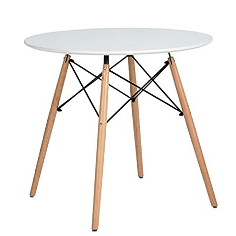 Dining Table Coavas Round Kitchen Table Modern Office Conference Table Cream White Coffee Table
