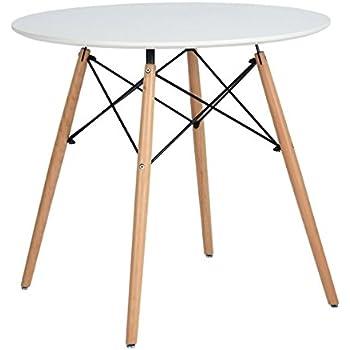 Amazon.de: Esstisch Coavas Rund Küchentisch Modern Büro ...