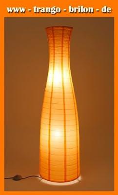 """Moderne Stehleuchte """"Ida"""" in silber mit Papierbezug in orange Ø 330 mm Höhe: 1210 mm von EGLO auf Lampenhans.de"""