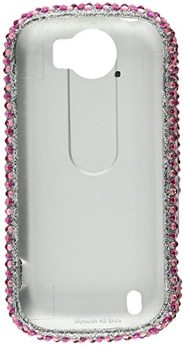 Eagle Cell RingBling Diamond Case für HTC MyTouch 4G Slide, rosa Herz Htc Mytouch 4g Slide