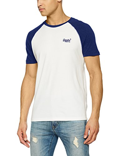 Superdry Men's Orange Label Baseball Tee T-Shirt