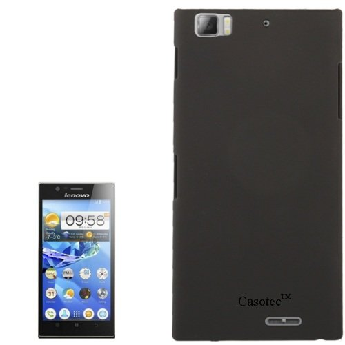 Casotec Ultra Slim Hard Shell Back Case Cover w/ Screen Protector for Lenovo K900 - Black  available at amazon for Rs.199