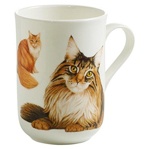 Maxwell & Williams Pets Maine Coon Katze, Geschenkbox, Porzellan, PB0718 Becher, braun, weiß, 10.5 x 7.5 x 10.5 cm -