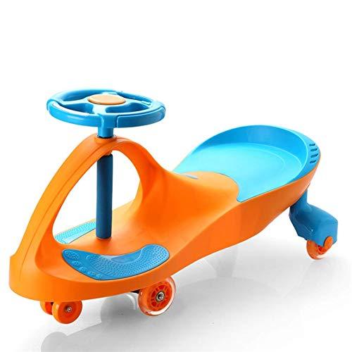 ar, Twist Autos Baby Walker Auto rutschfeste Stummschaltung Keine Batterien Kick Scooter GroßE RäDer Fahren Auf Spielzeug Wackeln FüR Kleinkinder Kinder, Orange ()