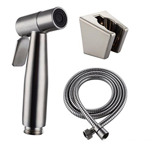 Xaer Startseite Enema System Dusche Vaginal Anal Cleaner Reinigung Bidget Sprays, 304 Edelstahl (Klistier Düse + Base + 59in Schlauch)
