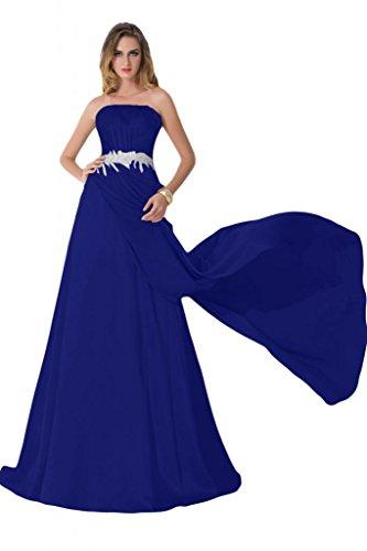 Sunvary su fondo arricciato, per abiti da sera o da cerimonia, con decorazioni in cristallo Charmeuse Gowns Blu