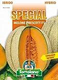 Sementi di ortaggi ibride e selezioni speciali ad uso amatoriale in buste termosaldate (80 varietà) (MELONE PRESCOTT F1)