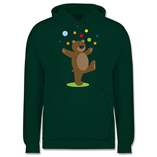 Sonstige Tiere - Kinder-Motiv Bär - Herren Hoodie Dunkelgrün