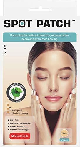 Spot Patch Slim by DermaTab Pimple patch Sterilized Hydrocolliod Acne Patch Cover Blemish Spot Dot sticker Korean Matt finish Pimple Face Treatment Kit (18 Patches) (Pack of 1)