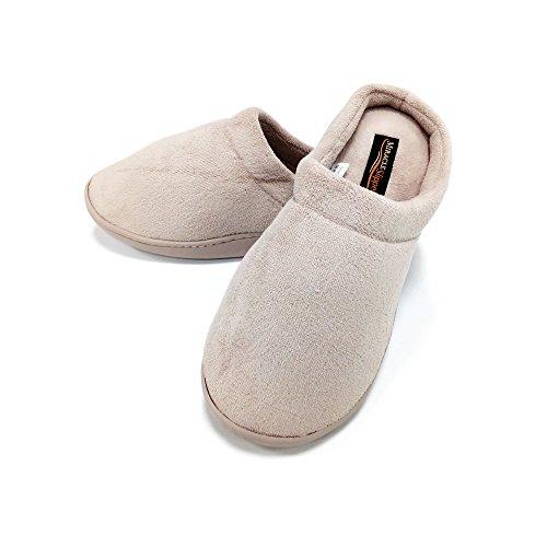 Foto de Miracle Slipper Gel Producto Oficial, Zapatillas de estar Por casa Unisex con propiedades antifatiga, Antideslizantes y con Plantillas amortiguadoras de Gel. Las únicas Originales (XXL, Beige)