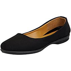 Gliders (from Liberty) Women's Willy-1 Black Ballet Flats - 3 UK/India (36 EU)