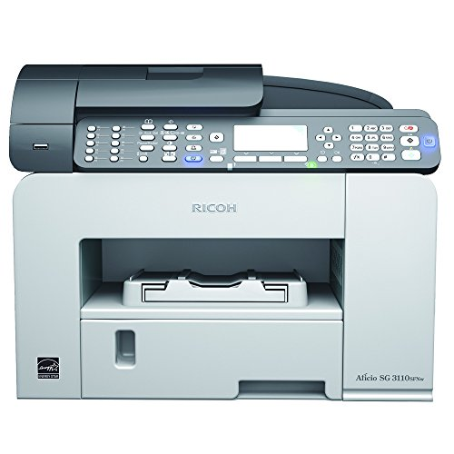 Ricoh Aficio SG 3110SFNW Multifunktionsgerät (Kopierer, Drucker, Scanner, Fax, Ethernet 10 Base-T/100 Base-TX, Wireless LAN, USB 2.0) grau
