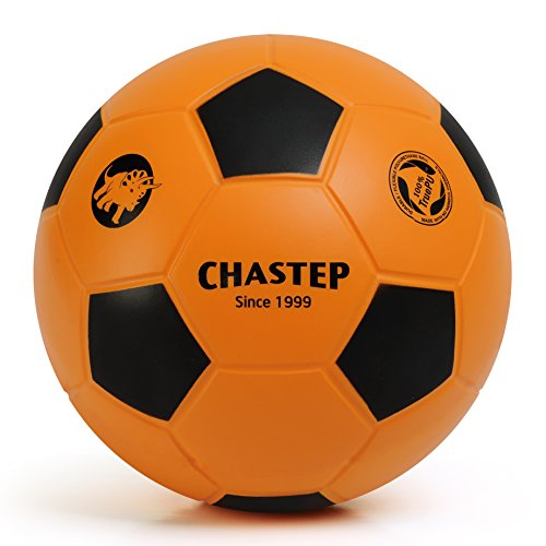 Zauberei Chastep Normal 20cm Foam Ball Indoor/Outdoor Football Soccer Perfect for Kids or Beginner Play and Excercise Soft Kick & Safe (Orange/Schwarz)