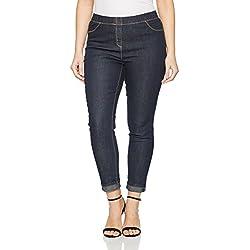 GINA LAURA Jeans, Julia, Jeggings, Leggings para Mujer, Azul (Dark Denim 93), 38