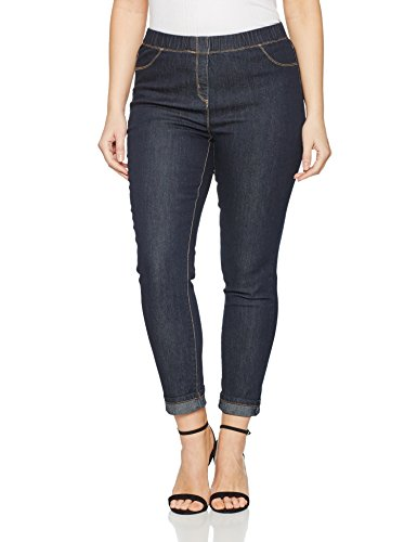Gina Laura Große Größen Damen Leggings Jeans, Julia, Jeggings Blau (Fashion Denim 94), 42