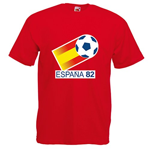 Mens World Cup Espana 82 T-shirt, Red, Extra large
