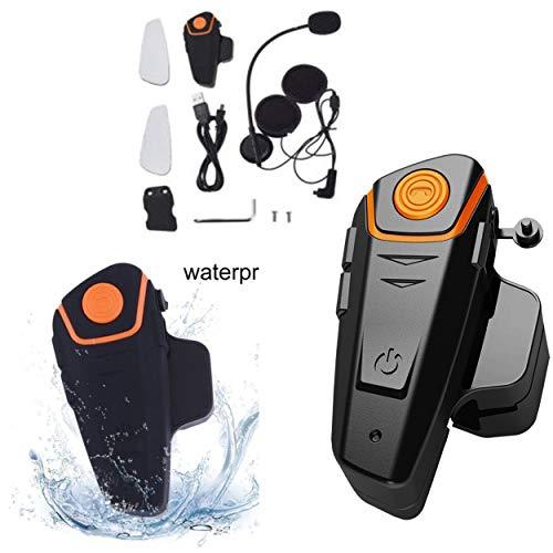 Losenlli Bluetooth Casco de motocicleta Auricular Intercomunicador Auricular de comunicación Interfaz inalámbrico universal BT-S2 A 2 o 3 usuarios
