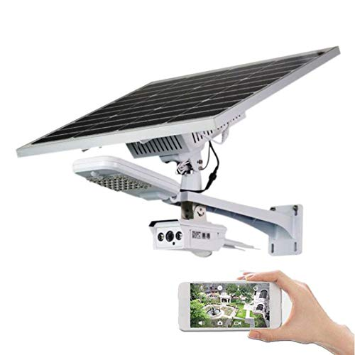 Solar Street Light Überwachungskamera Outdoor-4G Wireless Überwachungskamera mit Akku 1080P H.264 8mm Objektiv Wasserdicht Wireless 60W Solar Panel 60w Solar Panel