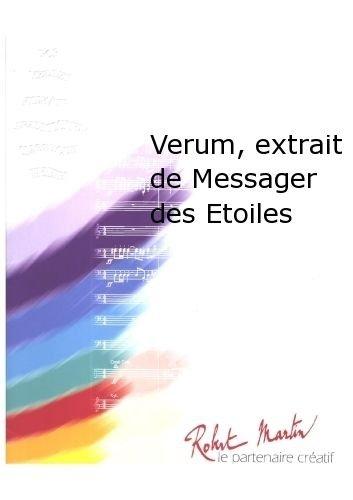 ROBERT MARTIN AMIOT J C    VERUM  EXTRAIT DE MESSAGER DES ETOILES