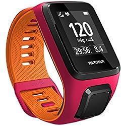 TomTom Runner 3 Cardio, Reloj cardio, Rosa/Naranja, S (Pequeña)