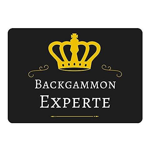 Mousepad Backgammon Experte schwarz (Retro Backgammon)