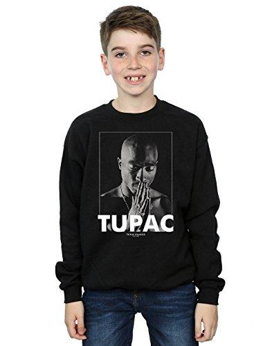 2Pac Jungen Tupac Shakur Praying Sweatshirt 12-13 Years Schwarz