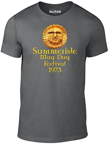 Reality Glitch Herren T-Shirt Summerisle Festival - Inspired by The Wicker Man (Dunkelgrau, - Wicker Man-shirt