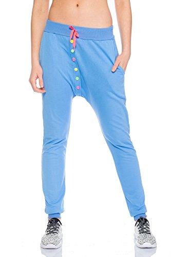 Fashion Flash - Pantalon de sport - Femme gris gris taille unique Bleu