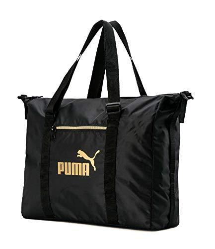 PUMA WMN Core Seasonal Duffle Bag Bolsa Deporte, Mujeres, Black-Gold, OSFA