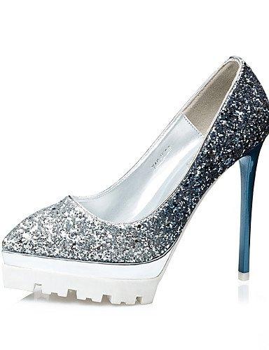 GS~LY Damen-High Heels-Kleid-Glanz-Stöckelabsatz-Absätze / Spitzschuh / Geschlossene Zehe-Blau / Lila / Rot / Gold golden-us8 / eu39 / uk6 / cn39