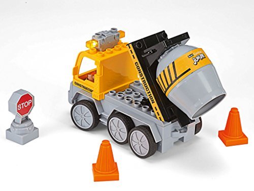 RC Auto kaufen Baufahrzeug Bild 6: Revell Control Junior RC Car Betonmischer - ferngesteuertes Baufahrzeug mit 27 MHz Fernsteuerung, kindgerechte Gestaltung, ab 3, mit Teilen und Figur zum Bauen und Spielen, LED-Blinklichtern - 23007*