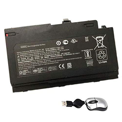 Amsahr HSTNN-DB7L-05 - Batería de reemplazo para HP HSTNN-DB7L, ZBook 17 G4-2ZC18ES, 852527-222, HSTNN-DB7L AA06XL (Incluye Mini ratón óptico) Color Gris