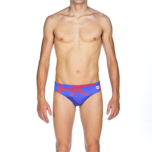 ARES5 Herren Arena Slip Spider Badehose royal-Red