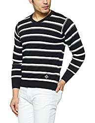 Monte Carlo Mens Cotton Sweater (1173303VN-3_Black & Whait_42)