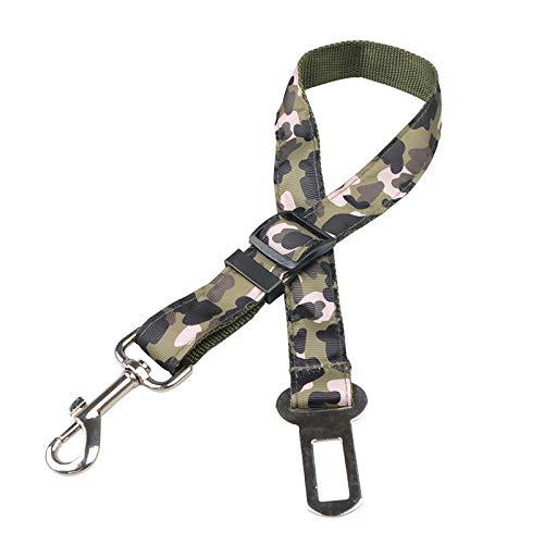 Anwasd7 Hunde Sicherheitsgurt Camouflage Polyester Elastic und Durable Small und Medium Dog Car Telescopic Pet Sicherheitsgurt