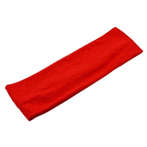 nd Stirnband für Running Yoga Fitness 21 * 7CM Rot ()