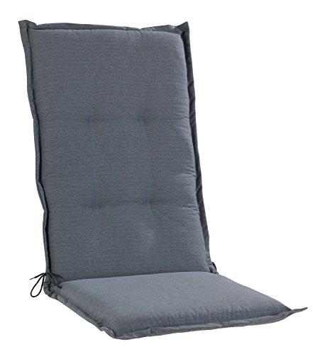 Sesselauflage Sitzpolster Gartenstuhlauflage für Hochlehner GRAU 1 | 50x120 cm | Grau