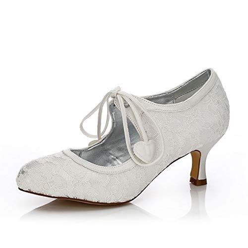 Dyeables Mid Heel Heels - JIAJIA K140311 Damen Brautschuhe Closed Toe