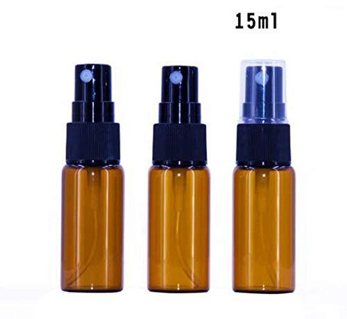 12pezzi di vetro ambrato vuoto flacone spray bottiglia di vetro rotondo con atomizzatore trasparente–perfetto per olio essenziale formule