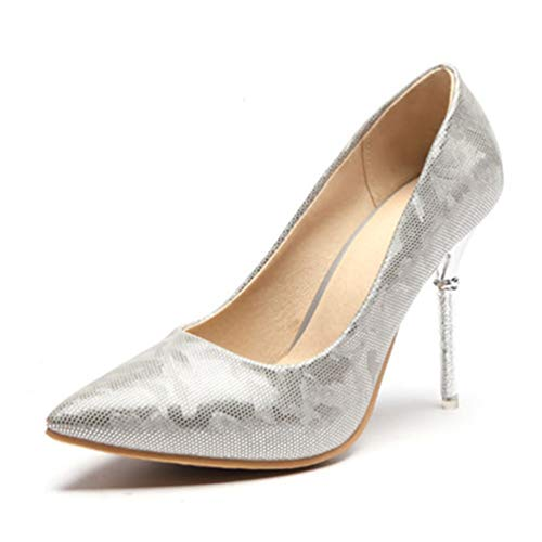 Frauen Pumpen High Spike Metal Heel Spitze Zehen Bling Leder Party Hochzeit Lady Thin Rhinestone Stiletto 10cm Patent Metal Heels Stiletto Pump