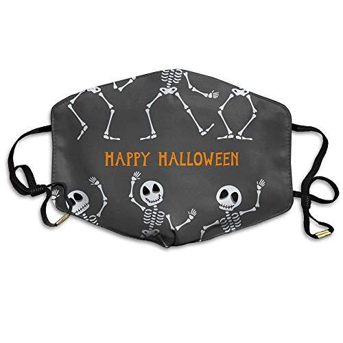 Daawqee Staubschutzmasken, Unisex Halloween Skeleton Anti-dust Breathable Health Masks Mouth Face Mask (Face Skeleton Für Halloween Bilder)