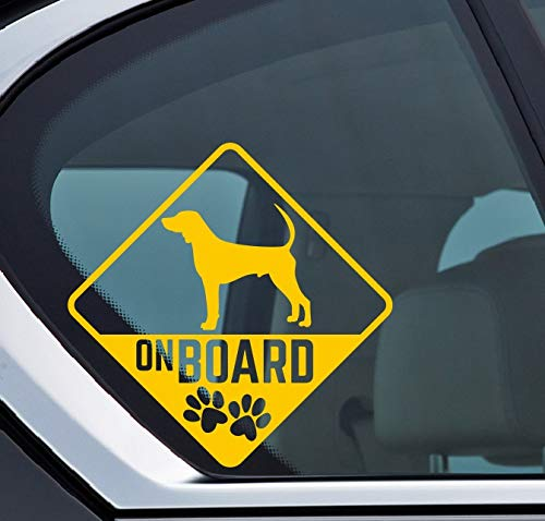 Black and Tan Coonhound on board Aufkleber, Hund an board, Dog on board, Sticker Auto, Dog, Hund, Puppy, Type C -