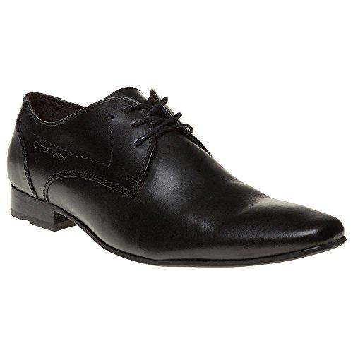 Base London , Chaussures de ville à lacets pour homme Noir noir Noir - Noir cireux