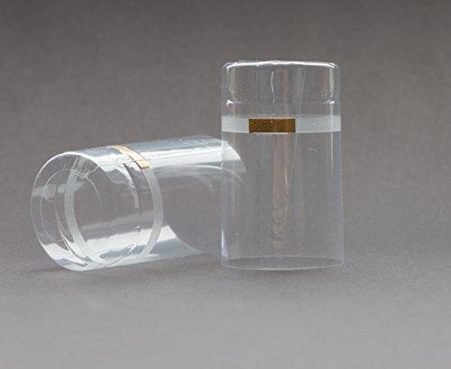 15, 25, 50 oder 75St. Schrumpfkapseln (⌀ = 32.5mm / Länge = 55mm) transparent mit Abrißband für Flaschen Korken (15 Stück) (Reagenzgläser Mit Drehverschlüsse)