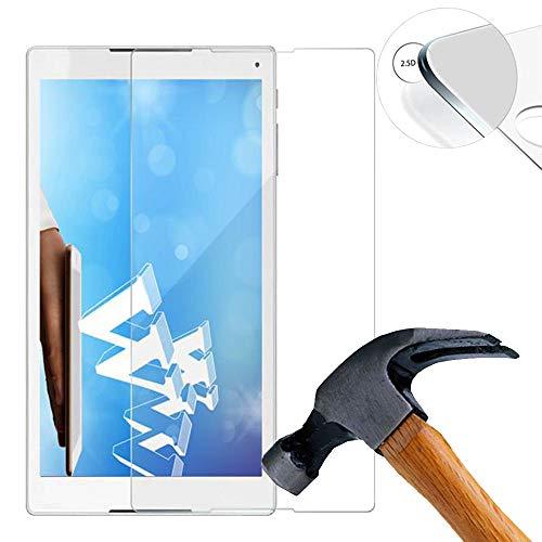 Lusee 2 x Pack Panzerglasfolie Schutzfolie für Alcatel Plus 10 Tablet 8085 Zoll Bildschirmschutz Tempered Glass Folie Screen Protector Panzerfolie Glasfolie 0,3 mm 9H Clear 2.5D