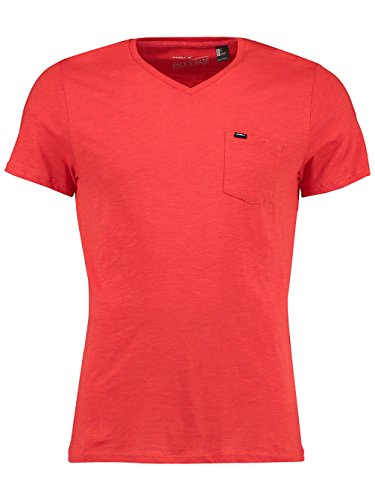 Herren T-Shirt O'Neill Jacks Base V-Neck T-Shirt aurora red