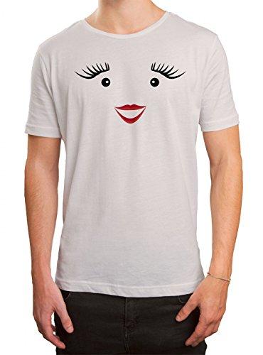 Kostüm Milch Premium T-Shirt | Verkleidung | Karneval | Fasching | Herren | Shirt © Shirt Happenz, Farbe:Weiß (White L190);Größe:3XL