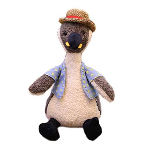 Creamon Weiches Plüschtier Puppe, Weiches Plüschtier Puppe Gefüllte Pinguin Schwein Elefant Spielzeug Niedliches Tier Stofftier Weiß