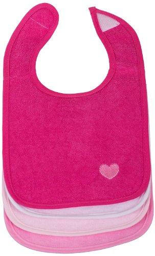 Bieco 38000330 - Lätzchen 4 Stück, klein, mit Klettverschluß, für Mädchen