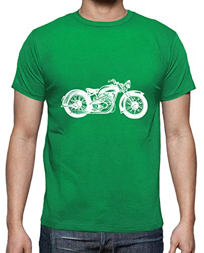 tostadora - T-Shirt Moto Classico - Uomo Verde Prato XL